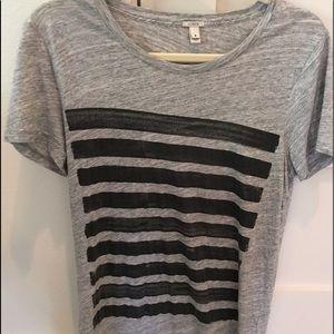 JCrew lines tshirt